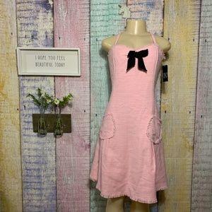 INC Pink Tweed Crawford Lolita Bow Kawaii Dress